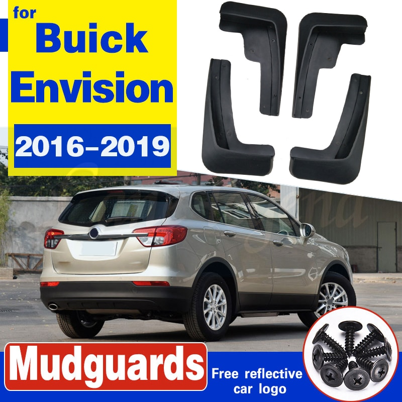 Set de guardabarros de coche moldeados para Buick Envision 2016-2019 2018 guardabarros delantero trasero con estilo