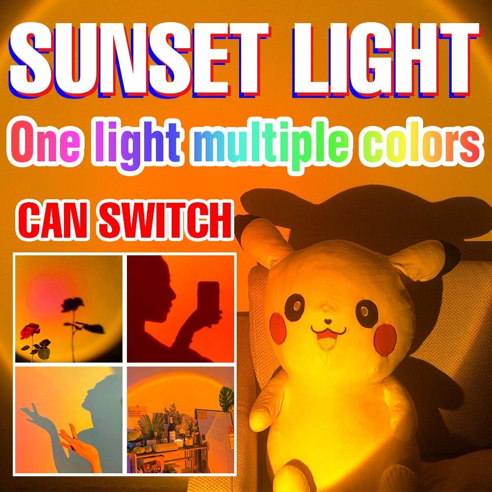 LED Projection Sunset Lamps LED Night Light Rainbow Atmosphere Lighting Bulb 5V USB LED Colorable Background Lighting Bedroom группа авторов led lighting