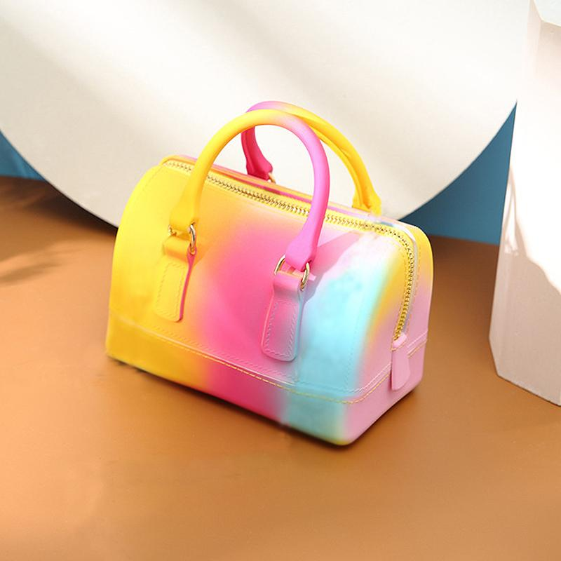 rainbow jelly bag bags for women 2020 summer new purses and handbags luxury bags famous brand designer mini bag crossbody bags