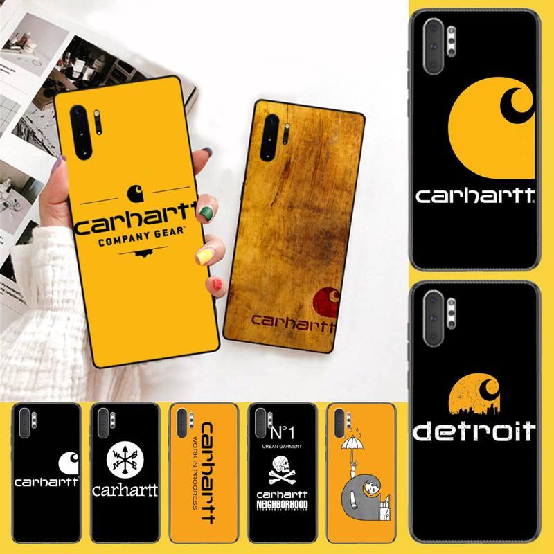 CUTEWANAN American clothing brand Carhartt DIY Luxury Phone Case For Samsung Galaxy J7 J8 J6 Plus 2018 Prime Note 7 8 9 10 pro