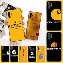 CUTEWANAN américain vêtements marque Carhartt bricolage luxe étui de téléphone pour Samsung Galaxy J7 J8 J6 Plus 2018 Prime Note 7 8 9 10 pro