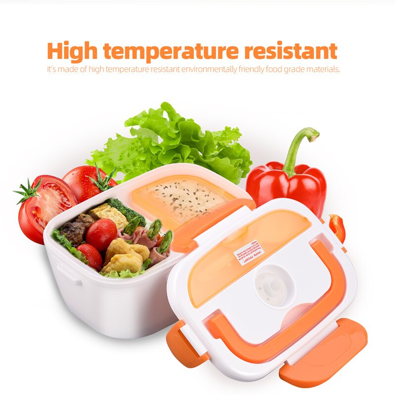 220V Portable Electric Heating Lunch Box Fast Food Heater Heating Rice Container for Home Office Sch