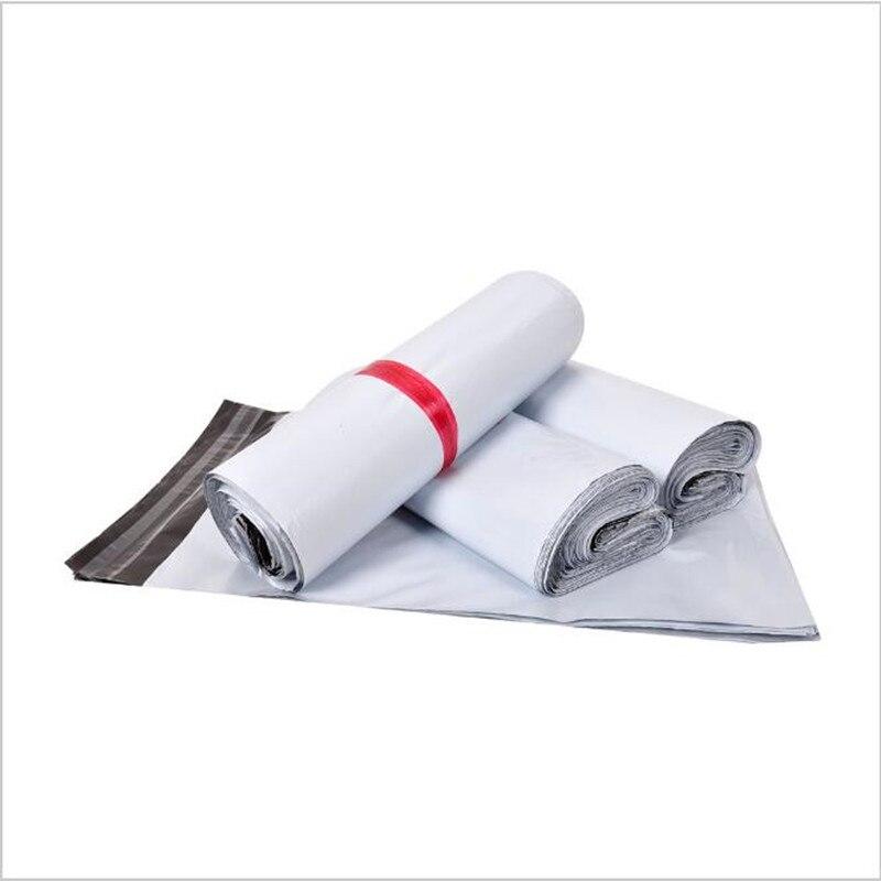 50 sztuk/partia biały torba kurierska koperta kurierska torby przewozowe torba listonoszka torebki wysyłkowe koperta siebie uszczelka samoprzylepna plastikowe etui