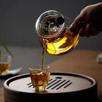high quality borosilicate glass teapot green tea heat resistant tea kettle creative coffee pot sets with infuser strainer