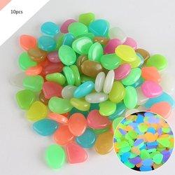 10 pçs/lote cor artificial fluorescente luminosa pedra jardim paisagismo fluorescente artificial pedra para aquário tanque de peixes
