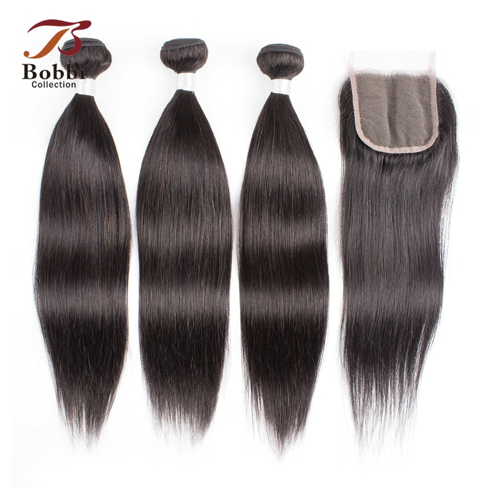 bobbi-collection-straight-human-hair-2-3-bundles-with-lace-closure-natural-color-10-26-inch-indian-remy-human-hair-extensions