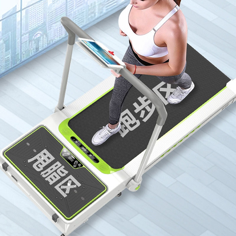 Una nueva generación de cintas de correr planas inteligentes, mini máquinas para caminar gruesas eléctricas para el hogar, equipo de entrenamiento interior