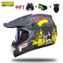 VIRTUE  Motorcycle Full Helmets Full Covered Off-road Helmets men and children Universal Characteristic Cool Locomotive Helmets