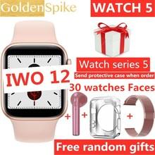 IWO 12 Bluetooth Smart Watch 1:1 SmartWatch 44mm Case for Apple iOS Android Heart Rate ECG IP68 waterproof IWO 11 IWO 10 update