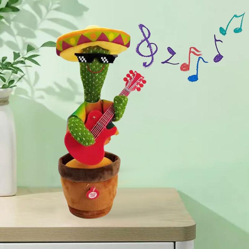 Eléctrico bailando juguete de Cactus para chico niños juguete de peluche La bailando planta Cactus bailar con canción temblando bailando Cactus