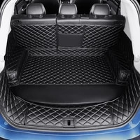 3d full covered waterproof boot carpets durable custom special car trunk mats for lincoln mkc mkz mkx navigator continental