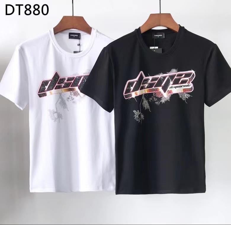 2021 أزياء المد العلامة التجارية Dsquared2 الرجال المتقدمة تي شيرت مطبوع DT880