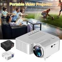 Plus recent UC28C LED ABS USB 16 7M Portable Videoprojecteur Home Cinema Cinema Projecteur De Bureau Support Pour Telephones Intelligents En Stock