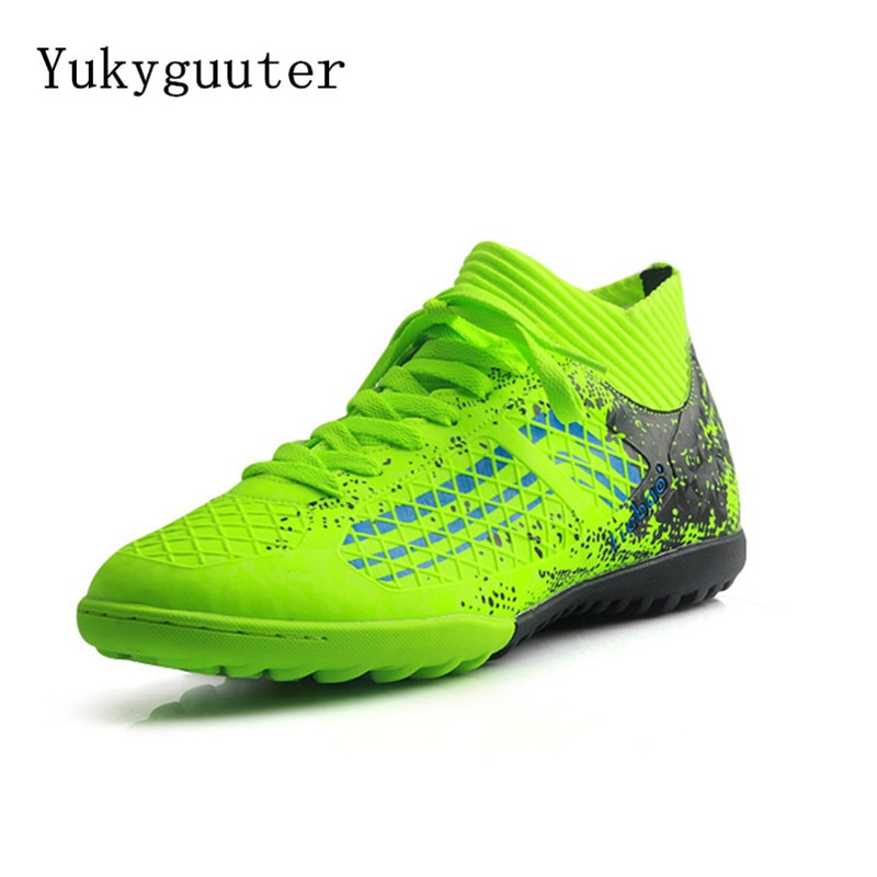 Men Soccer Shoes Kids Cleats Training Football Boots High Top Ankle Sport Sneakers Outdoor Athletic Big Size