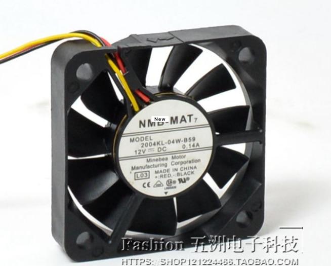 Para NMB-MAT 2004KL-04W-B59 M14 cc 12V 0.14A 50x50x10mm ventilador de refrigeración del servidor