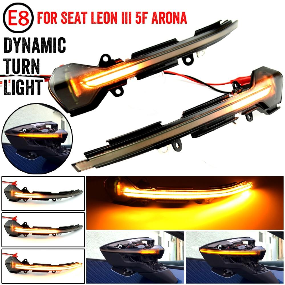 Luz LED dinámica para coche, intermitente secuencial, indicador de espejo lateral para...
