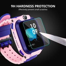 3 Pcs 9H Hardness HD Glass Screen Film Protector for Q12 Baby Kids Child Smart Watch Smartwatch Glas