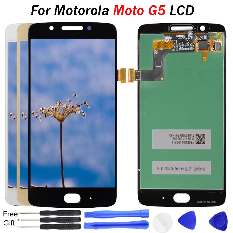 Para Motorola Moto G5 pantalla LCD pantalla táctil digitalizador reemplazo XT1672 XT1670 XT1676 5,0 pulgadas Kit reemplazar para Moto G5 LCD