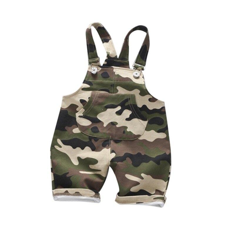 Casual Summer Baby Boys Girls Roupas Camouflage Infants Kids Children Cotton Overalls Shorts Pantalones