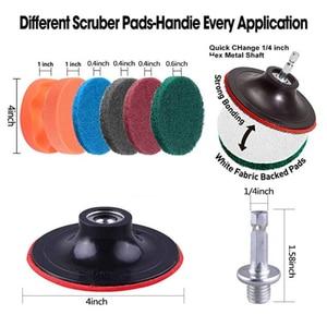 Image 3 - Щетка для дрели, скраб колодки, 31 шт., мощный скребок, чистящий набор, универсальный очиститель, скребок, беспроводная дрель для очистки бассейна