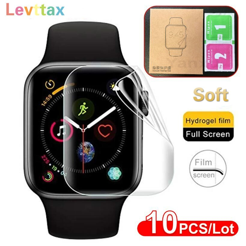 hydrogel protection film for apple watch screen protector iwatch 6 5 4 3 2 1 se series watch film 38mm 40mm 42mm 44mm soft glass 10Pcs/lot Soft Clear Screen Protector For Apple i Watch Series 44mm 40mm 42mm 38mm SE 6 5 4 3 2 1 Hydrogel Film For iwatch Film