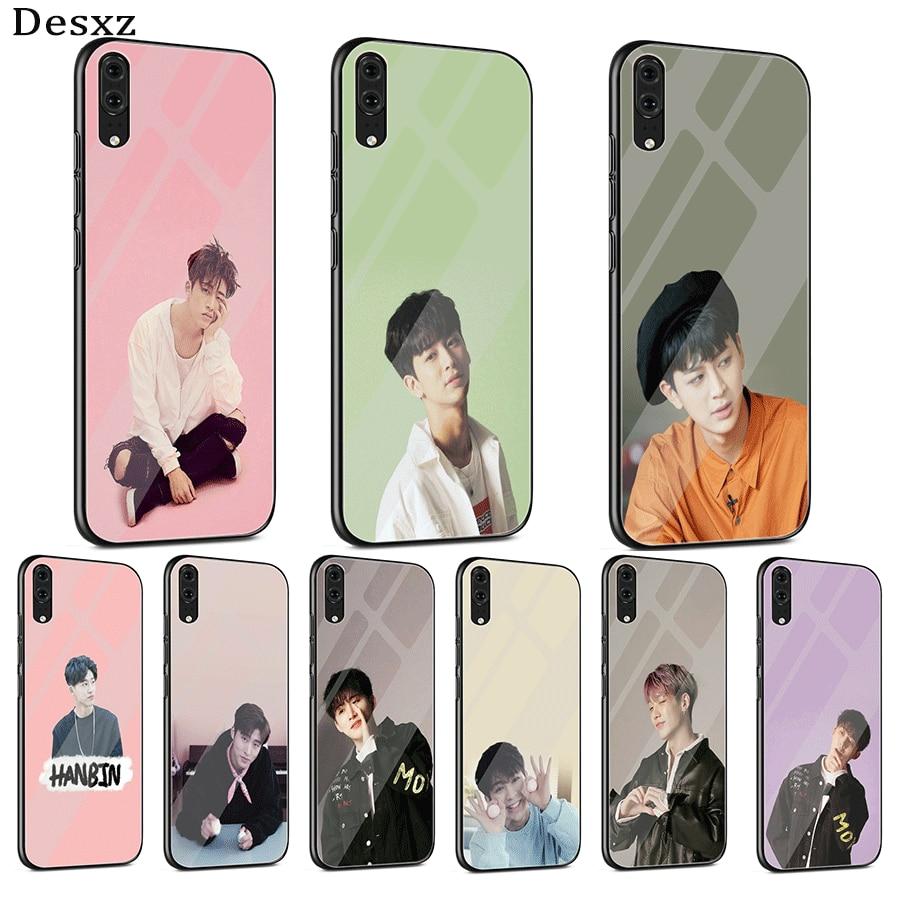 Kim Han-bin Glass phone Case Cover For Samsung Galaxy S7 Edge S8 S9 S10 Plus Note 8 9 10 Plus Lite C