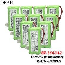 2/4/6/8/10 Pcs BT-166342 800Mah Aaa Oplaadbare Ni-Mh Batterij Uniden BT-166342 BT166342 166342 BT-266342 draadloze Telefoon Batterij