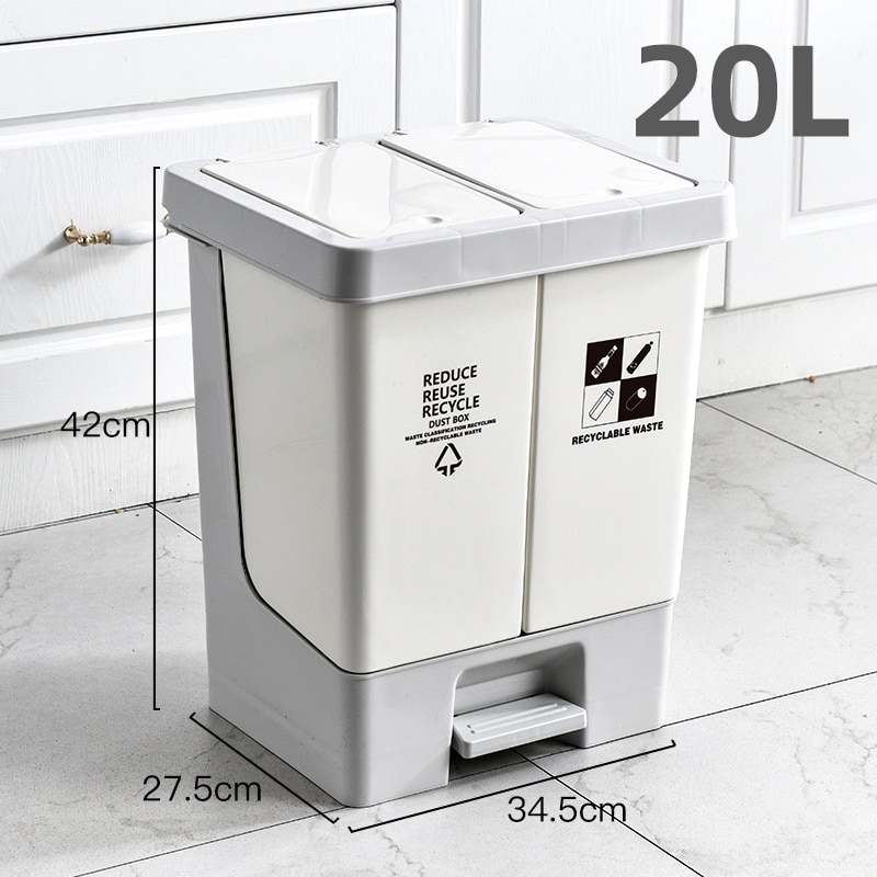 Luxury Recycling Bins Trash Can Kitchen Nordic Modern Large Garbage Sorting Trash Bin Kawaii Kitchen Cubo Basura Storage BC50LJT enlarge