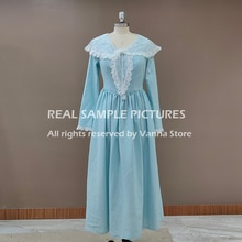 Palace Linen Long Photography Special Occasion Dress Retro Victorian Tea Length Princess Gowns Long