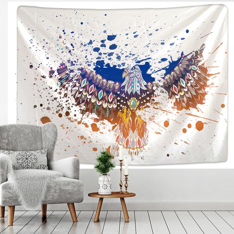 Animal tapeçaria barato hippie parede pendurado boêmio tapeçaria mandala parede pintura a óleo estilo arte deco
