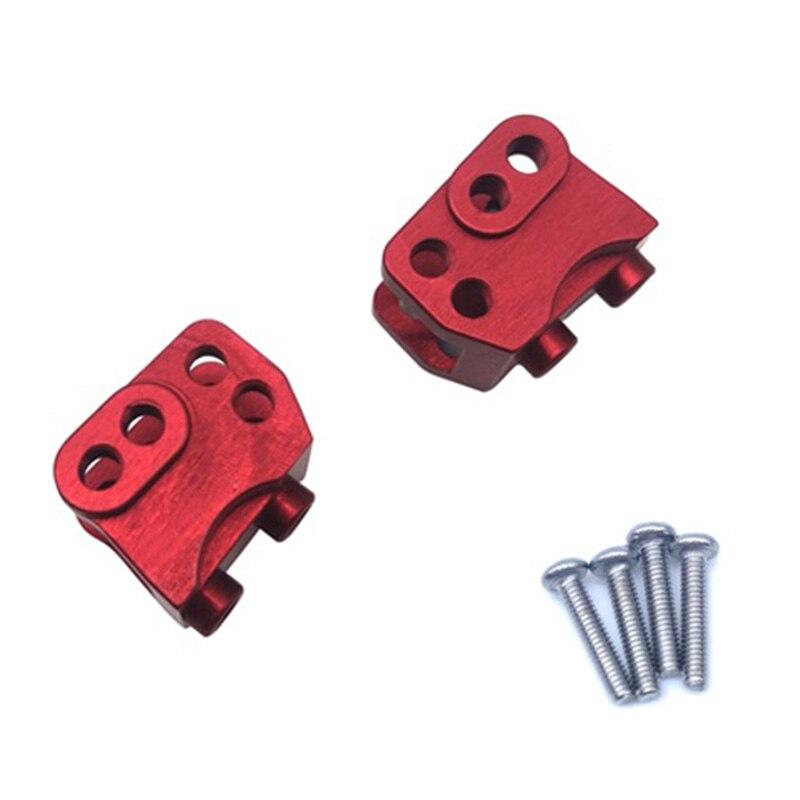 2 pces cnc de alumínio dianteiro traseiro inferior choque ligação montagem para rc 1/10 rock carro axial SCX10-II 90046 90047 ar44 eixo, vermelho