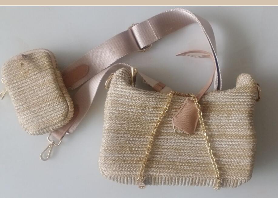 المتشرد تحت الإبط الساخن حقيبة المرأة 2021 موضة جديدة القش حقيبة الكتف حقيبة ساعي الموضة حقائب نسائية المحفظة