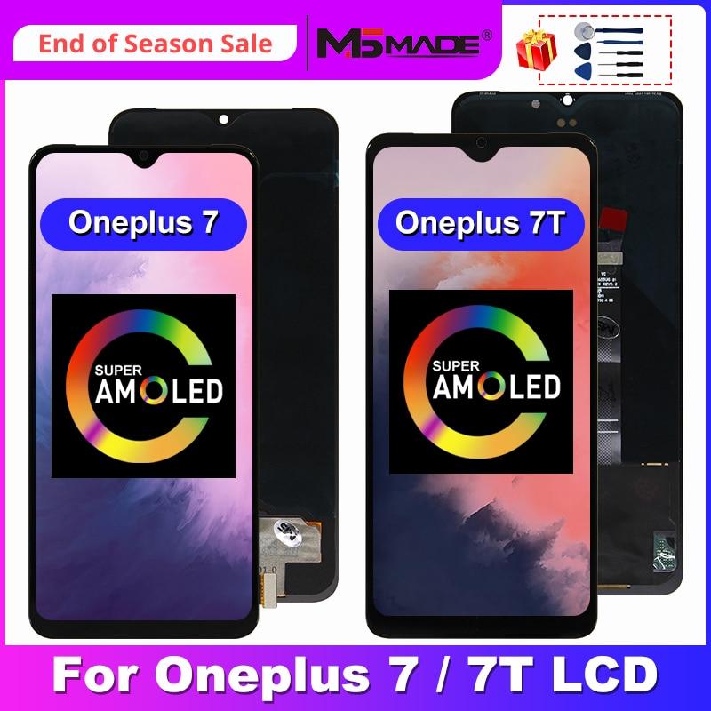 ЖК-дисплей AMOLED для OnePlus 7T, сенсорный экран, дигитайзер, запасные части для Oneplus 7, ЖК-дисплей 1 + 7T, экран