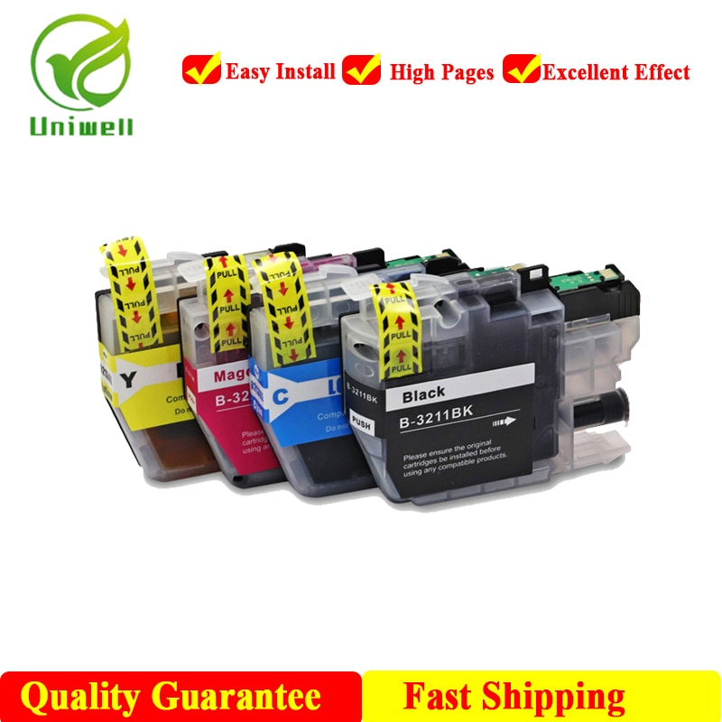 Uniwell LC3211 LC3213 nuevo cartucho de tinta Compatible para impresora hermano DCP-J772DW DCP-J774DW MFC-J890DW MFC-J895DW LC3213XL