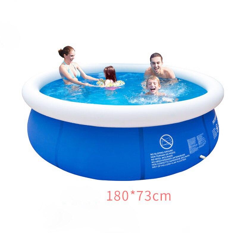 180x73cm Sommer Schwimmen Pool Clip Netto Starke Super Pad Pool Hause Aufblasbare Badewanne Kinder Badewanne Im Freien familie Wasser Partei