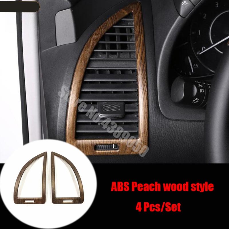 Para NIssan Patrol, Armada Y62 2017-2020 accesorios ABS Chrome Auto salida de aire pequeña decoración cubierta Trim Car Styling 2 uds