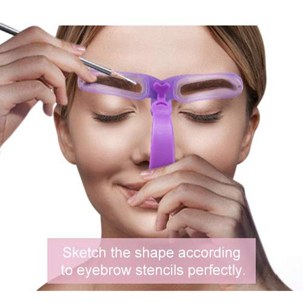 8pcs Eyebrows Stencil 8 Styles Eyebrow Shaping Grooming Kit Template  Helper Maquiagem Profissional Completa трафарет для бровей