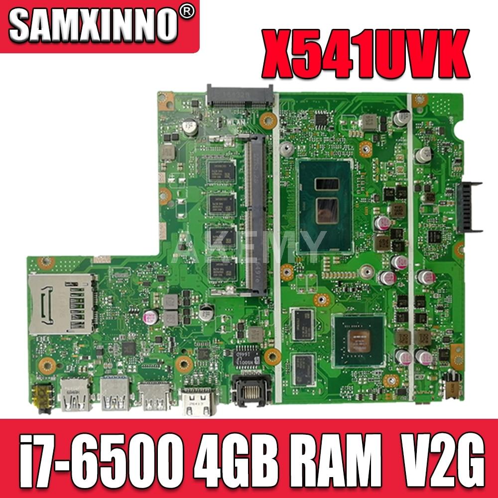 Akemy X541UVK اللوحة اللوحة ل Asus X541UVK X541UJ X541UV X541U F541U R541U اللوحة المحمول i7-6500U CPU 4GB RAM V2G