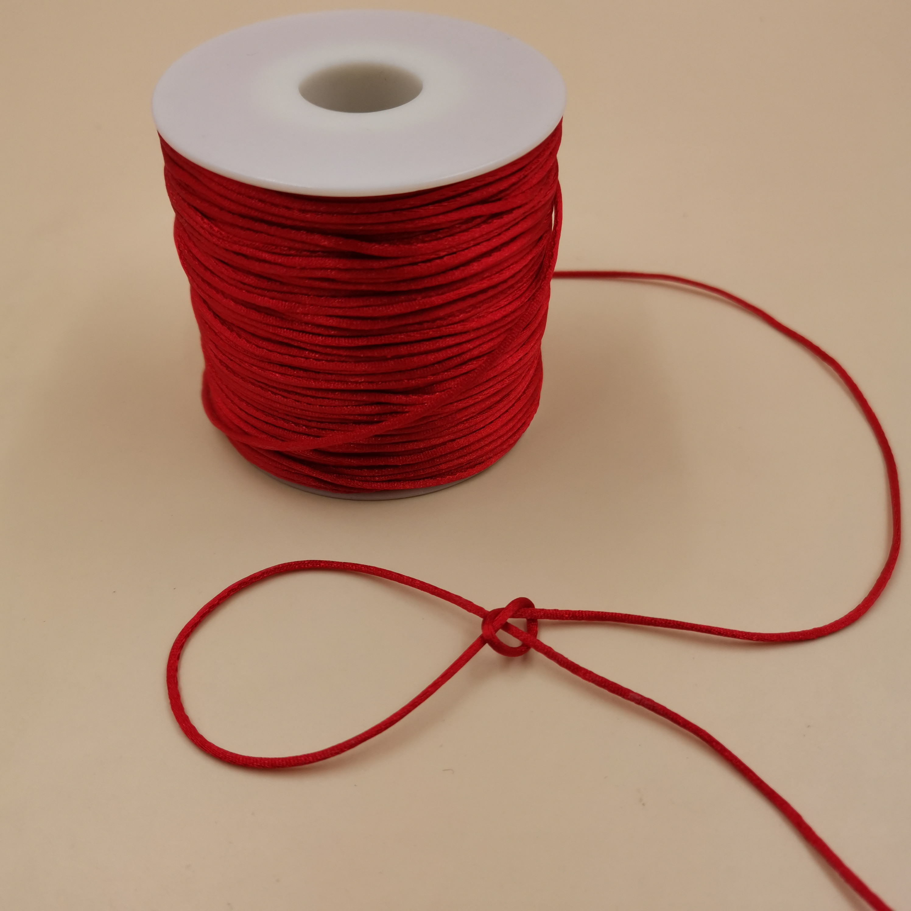 2017 0 8mm 100m spool macrame rope satin rattail nylon cords string kumihimo chinese knot cord diy bracelet jewelry findings 1mm Red Chinese Knot Rattail Satin Cord Braided String Jewelry Findings Beading Rope #R700
