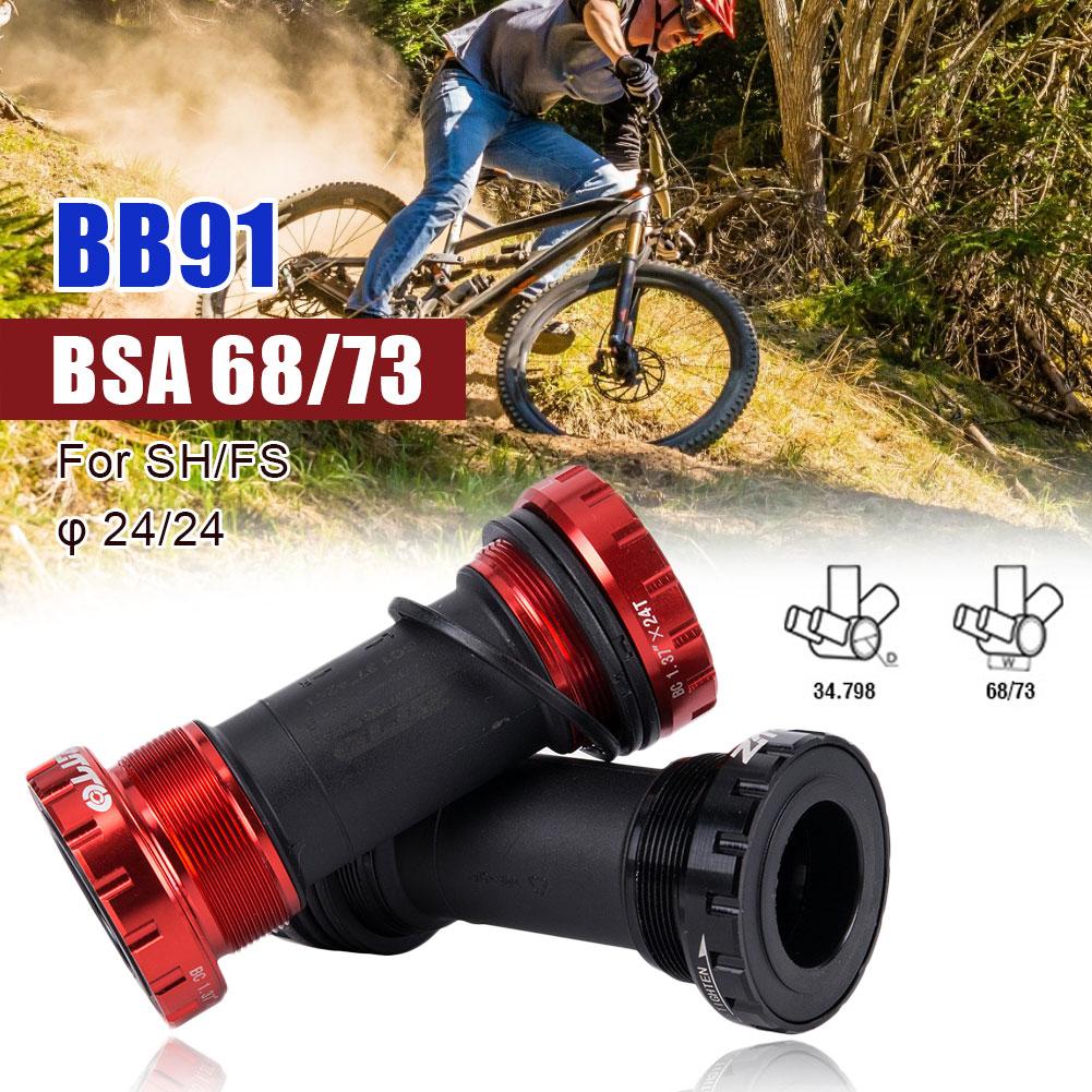 BB91 подшипник Нижний кронштейн винт тип 68/73 мм велосипедная ось горного велосипеда дорожный велосипед Нижний Кронштейн водонепроницаемый CNC...
