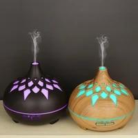 Diffuseur dhuile essentielle et darome  humidificateur dair  haut-parleur  musique  ultrasons  lumieres colorees  pour le bureau et la maison