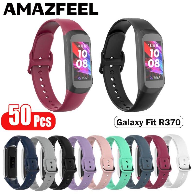 Pulseira para Samsung Pulseira de Silicone Alça de Pulso para Galaxy Unidades Pacote Galaxy Fit Sm-r370 Pulseiras Banda 50 –