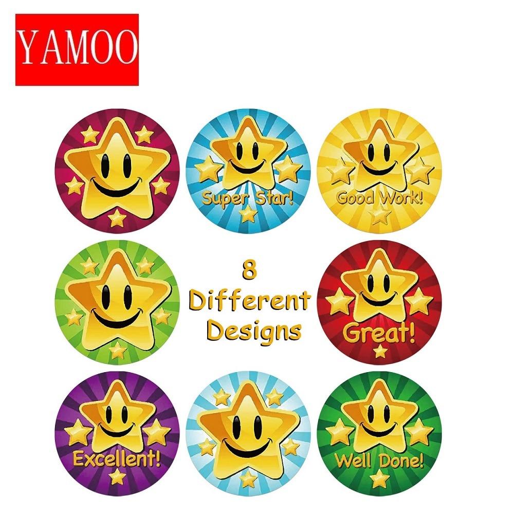 adesivi-per-bambini-premi-materiale-scolastico-creativo-simpatico-giocattolo-rotondo-stella-25cm