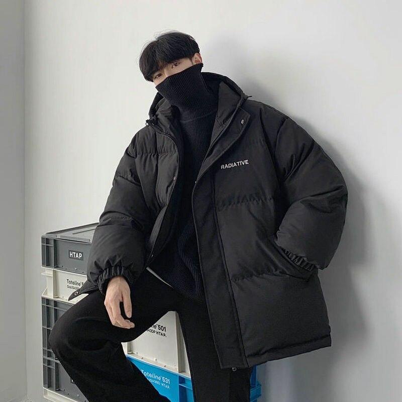 Зимние теплые куртки, парки для мужчин и женщин, женские однотонные толстые пальто с капюшоном, парка для мужчин