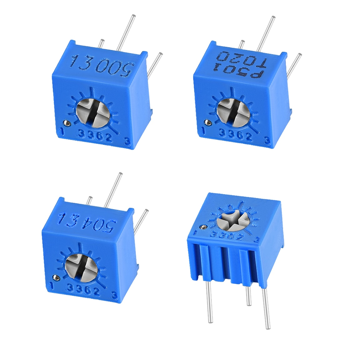 Potenciómetro uxcell 9 para Audio estéreo interruptor de volumen Control PCB o DIY como divisor de voltaje controlador de corriente Reóstato