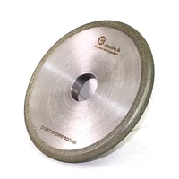 1 piece round edge electroplated diamond grinding wheels for carbide stone agate grinding dd064