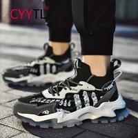 cyytl mens running comfortable sports shoes highten outdoor ankle sock sneakers for walking non slip increased boys tennis