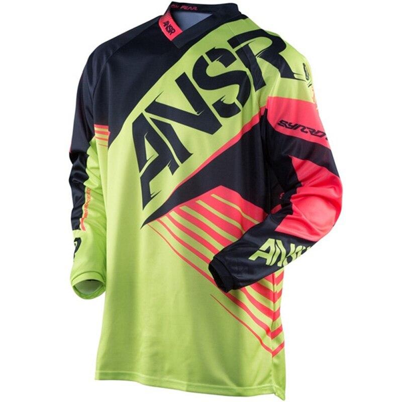 2020 ansr jersey motocross dh transpirable ropa de moto bicicleta manga larga Hombre Cruz moto gp camisa mtb
