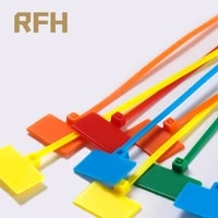50pcs easy mark 4150mm nylon cable ties tag labels plastic loop ties markers cable tag self locking zip ties