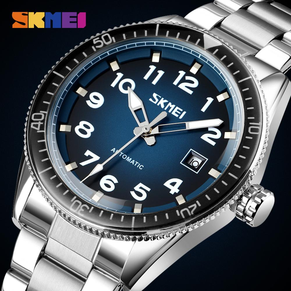 SKMEI Automatic Mechanical Watch For Men Luxury Mens Wristwatches Stainless Steel Top Brand Watches montre homme 9232